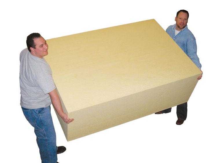 Six foot foam blocks polyurethane mix and