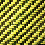 KEVLAR® / Carbon Hybrid - Roll (Yellow) - Swatch (4