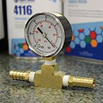 Vacuum Gauge with T-Fitting