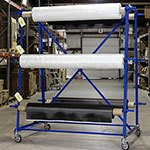 Six Roll Fabric Rack - Six Roll Fabric Rack