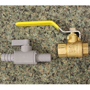 Brass/Plastic Two-Way Shutoff Valves
